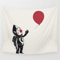 banksy Wall Tapestries featuring balloon fairy by Louis Roskosch