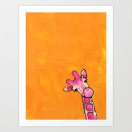Baby Pink Giraffe Art Print