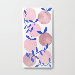 Modern clementines in blush Metal Print