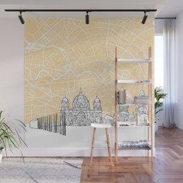 Berlin Germany Skyline Map Wall Mural