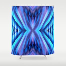 Blue Inpiration Shower Curtain