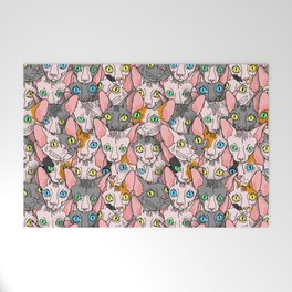 diverse sphynx cat allover print Welcome Mat