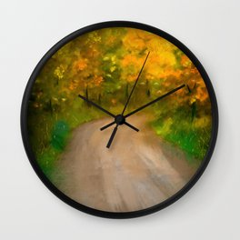 Path Traveled to Autumn Wall Clock