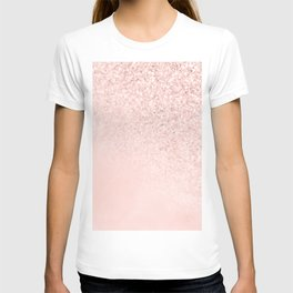 She Sparkles Rose Gold Pastel Light Pink Luxe T-shirt