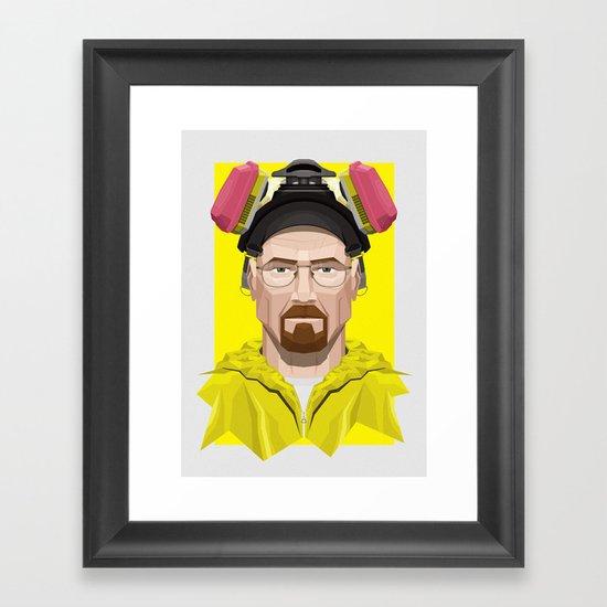 Breaking Bad - Walter White in Lab Gear Framed Art Print