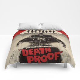 Death Proof Movie Poster Written And Directed By Quentin Tarantino Spanish Version Artwork, Posters, Comforters