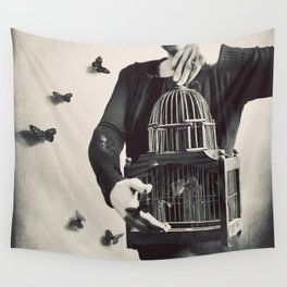 The Butterfly Releaser Wall Tapestry