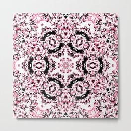 Pink and Black Kaleidoscope 2 Metal Print