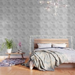 Marble Love Silver Metallic Wallpaper
