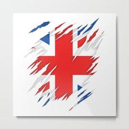 Torn Flag UK Metal Print