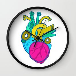 Internal Plumbing (the heart) Wall Clock