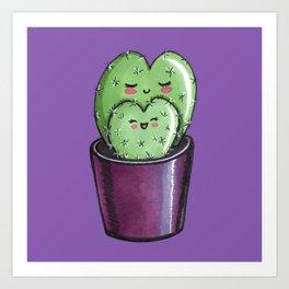 Cactus mom kawaii Art Print
