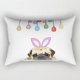 Happy Easter - Pug Bunny Rectangular Pillow