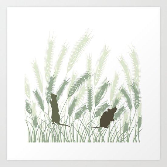 Mice In The Grain No. 1 Art Print