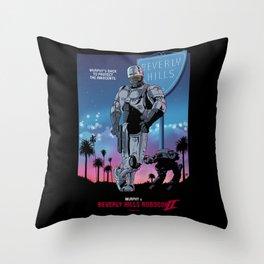 Beverly Hills Robocop 2 Throw Pillow
