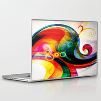 donald duck Laptop & iPad Skins featuring Donald by Tami Cudahy