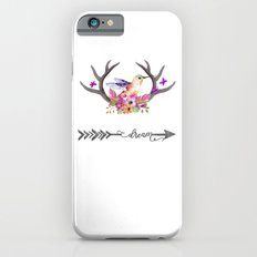 Hummingbird on floral Antlers and Dream arrow iPhone 6s Slim Case