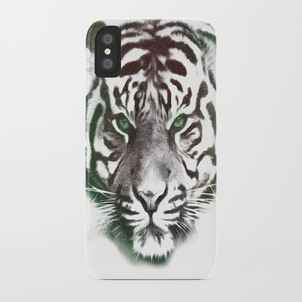 Tiger Head Phone Case by Cocodotstudio PCS8804554