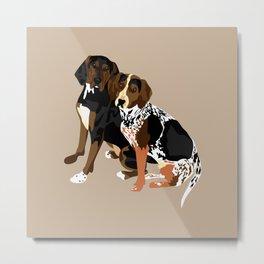 Marlowe and Gracie Metal Print