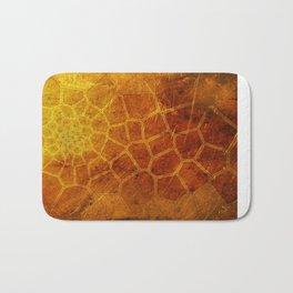 Golden Voronoi Bath Mat