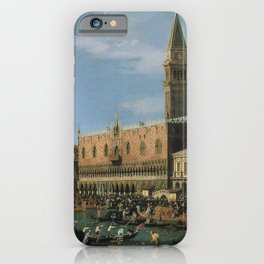 Canaletto Bernardo Bellotto  -  Return Of il Bucintoro On Ascension Day iPhone Case