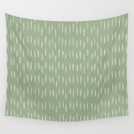 Raindrop Boho Abstract Pattern, Sage Green Wall Tapestry