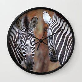 Back and forth - Africa wildlife Wall Clock