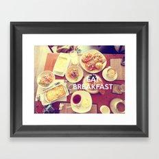 Eat Breakfast Framed Art Print