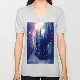 Galaxy Forest : Deep Pastels Unisex V-Neck