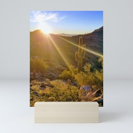 Sunrise Saguaro Sonoran Desert Mini Art Print