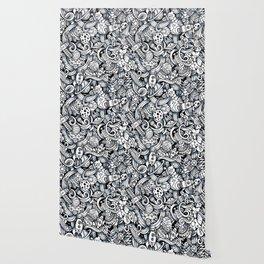 Space doodle pattern Wallpaper