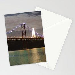 April 25th bridge Lisbon Stationery Cards