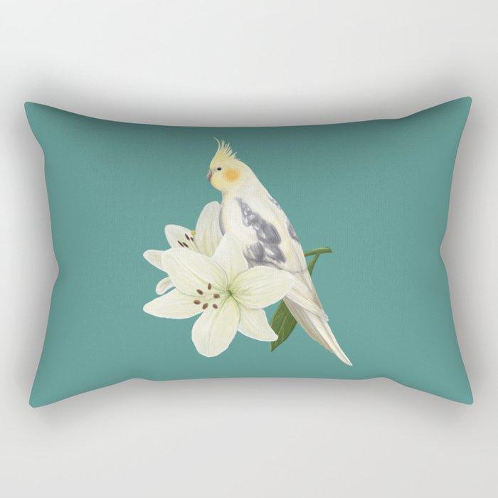 Pied Cockatiel Rectangular Pillow