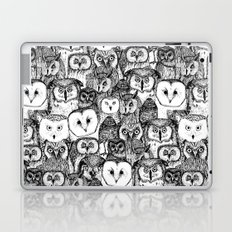 just owls black white Laptop & iPad Skin