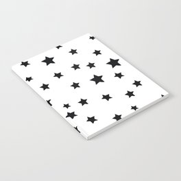 Black and White Stars Notebook