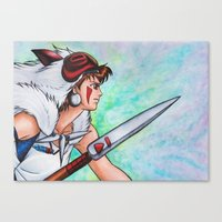mononoke Canvas Prints featuring Mononoke by Kimberly Castello