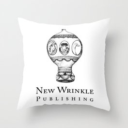 New Wrinkle Publishing Logo Throw Pillow