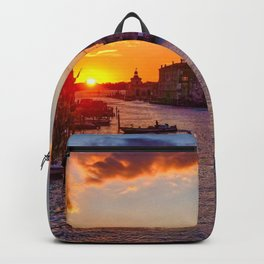 Sunset River City (Color) Backpack