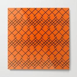 On a Drum Roll Orange  Metal Print