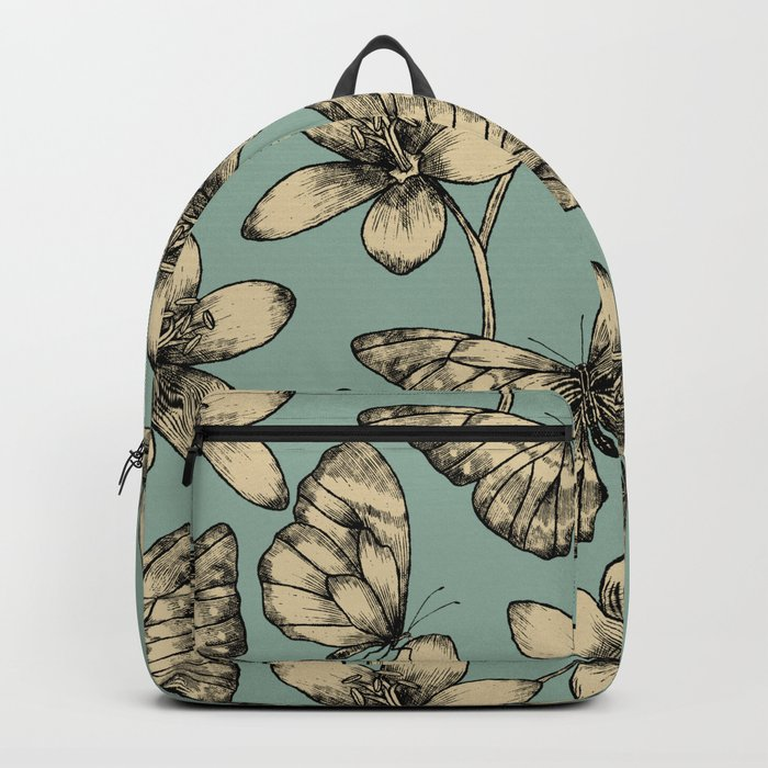 Butterflies and Flowers Backpack