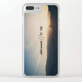 collect moments // not things Clear iPhone Case