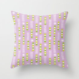 Lavender Purple Circles And Triangles With White Star Bursts Throw Pillow