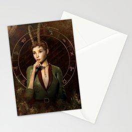 Capricorn zodiac fantasy circle Stationery Cards