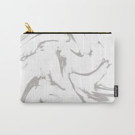 Marble Black and White Grey Gray Marble Swirl Carry-All Pouch