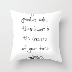 when you frown Throw Pillow