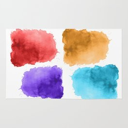 watercolor patch collection Rug