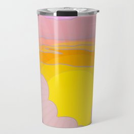 Sixties Inspired Psychedelic Sunrise Surprise Travel Mug