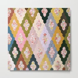 #03#Fabric in pieces pattern Metal Print