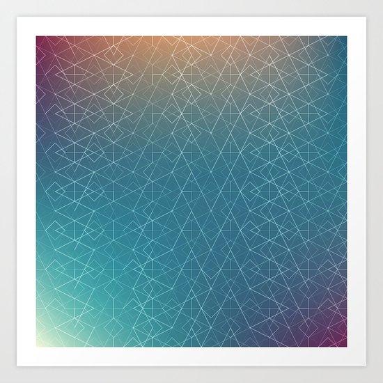 Blurred Geometry Art Print