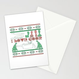 Cooking Christmas Stationery Cards